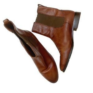Cole Haan Chelsea Ankle Booties Brown Leather